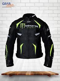 energy scream alpinestars monster black leather jacket