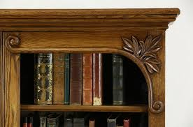 bookcases oak carved victorian antique library bookcase glass doors l stackable bookcases with barrister globe wernicke