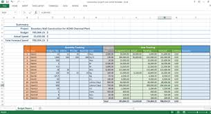 Track Progress In Excel Construction Project Cost Control Excel Template Workpack