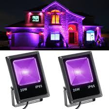 Outdoor Uv Light Details About 2pcs 20w Stage Light Uv Led Hight Power Auto Floodlight Waterproof Outdoor Party