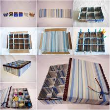 Decorating Cardboard Boxes How to DIY Cardboard Storage Box with Dividers 6