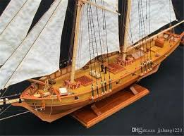 wooden scale model ship assembly model kits classical wooden sailing boat model harvey1847 scale halcon1840 naxox harvey1847 with 20 92 piece on