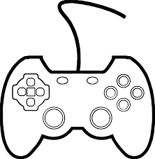 Small Picture Joypad The Mad Processor Playing Computer Games Coloring Page