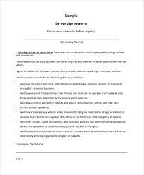 sample contract agreement independent contractor driver agreement sample contract agreement