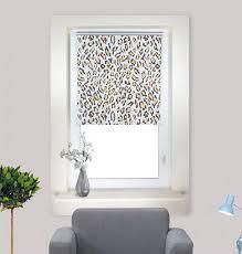 specification of leopard patterned roller blinds for bedroom