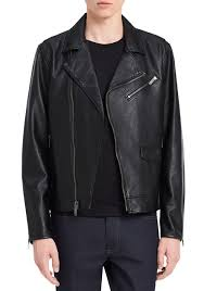 calvin klein jeans faux leather perfecto jacket black men young men s clothing jackets coats