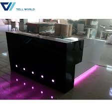 commercial counter furniture white and grey l shaped reception desk