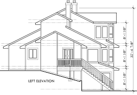 house rear elevation view for 9600 view house plans sloping lot house plans multi