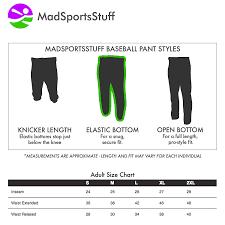 Amazon Com Madsportsstuff Mens Baseball Pants Elastic