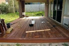 building deck on concrete slab exceptional building deck over concrete patio right how to build