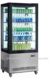 Stand Up Display Freezer 100 sides glass cooler stainless steel Refrigerated Showcase with 55