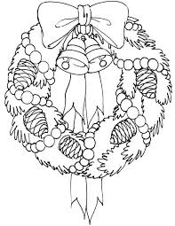 Christmas Wreaths Coloring Pages Atalmage Co Swifteus