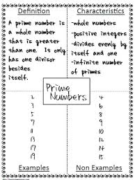 Example Of Frayer Model Prime Number Example Worksheets
