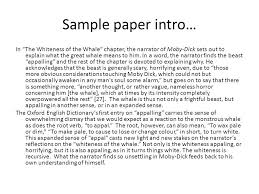 melville day business sample paper intro outline whiteness 2 sample