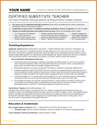 Substitute Teaching Resume Download Now Substitute Teacher Resume