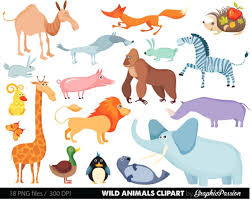 zoo animals clipart. Modren Zoo Wild Animal Clipart Etsy Zoo Animals With Names 1500 1190 19 Inside