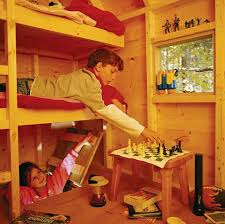 Free Deluxe Tree House Plans  treehouse playhouse wood plans