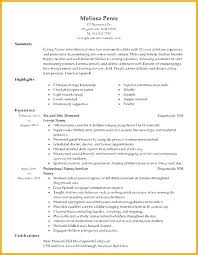 Resume For Nanny Nanny Resume Resume Nanny Sample Noxdefense Com