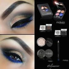 get the look with blue and gold eye makeup pictorial using the muse palette for this look lid orange iridescent color muse palette outer corner bronze