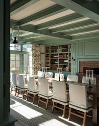 green dining room mix and chic