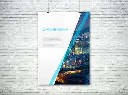 poster psd freebie a0 psd poster mockup by graphberry dribbble dribbble