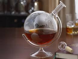 wine enthusiast etched globe whiskey decanter large3