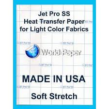 Jet Pro Ss Jetpro Sofstretch Heat Transfer Paper 8 5 X 11