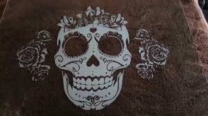 copy of sugar skull custom etched glass by christo