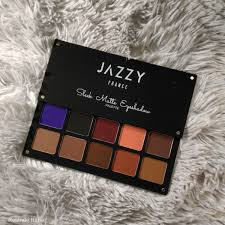 jazzy france sleek matte eyeshadow palette night out review