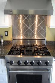 Steel Backsplash Kitchen Kitchens With Stainless Steel Backsplash Zhomephotous