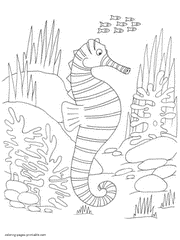 Small Picture Sea and ocean animals coloring pages