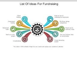 Fundraising Chart Ideas List Of Ideas For Fundraising Ppt Infographic Template