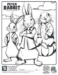 Here Is The Happy Meal Peter Rabbit Movie Coloring Page Click The