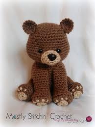 Crochet Bear Pattern Classy Bear Crochet Pattern PDF Black Bear Brown Bear Polar Bear