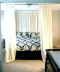 Blackout Bed Canopy Black Bedroom Ins Canopy Bed Image Of With In ...