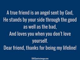 Life Line Quotes Thanks for being my lifeline Friendship SMS Quotes Image 29