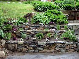 how to build tiered garden walls