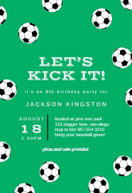 Soccer Party Invitation Template Soccer Birthday Sports Games Invitation Template Free