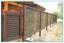 corrugated metal privacy fence.  Fence Corrugated Metal Fence Privacy  Cost On Corrugated Metal Privacy Fence L