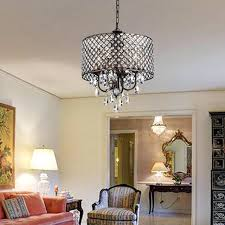 4 light chandelier 4 light antique copper round drum crystal chandelier ceiling fixture aubrey 4 light