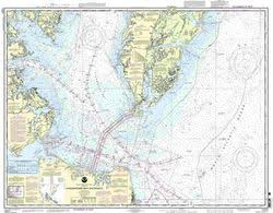 Mobjack Bay Chart Nautical Chart Of Chesapeake Bay Entrance