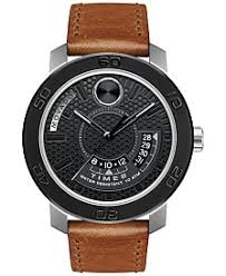 movado watches macy s movado men s swiss bold brown leather strap watch 46mm 3600361