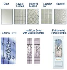 Windows Finishes, Glass Types for doors