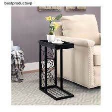 table under sofa. sofa table black end accent wood metal side snack slide under c tray no spill e