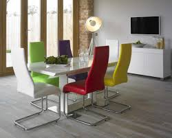 alluring colorful dining sets 4 modern tables set home