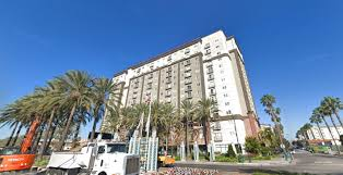 a fire on the 11th floor early wednesday aug 1 2018 prompted the evacuation of the worldmark by wyndham hotel near disneyland google street view