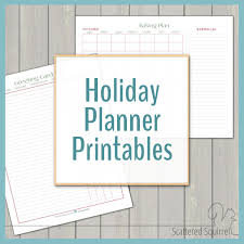 Holiday Planner Template Free Printables Scattered Squirrel