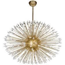 mid century modern sputnik chandelier with handblown murano glass teardrops for