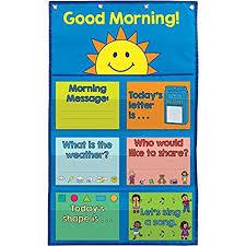 Really Good Stuff 904134 Good Morning Day Starter Pocket Chart