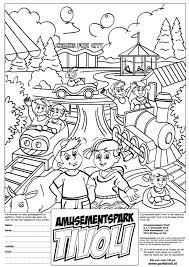 Pretpark Kleurplaat Schoolreisje Amusementspark Tivoli